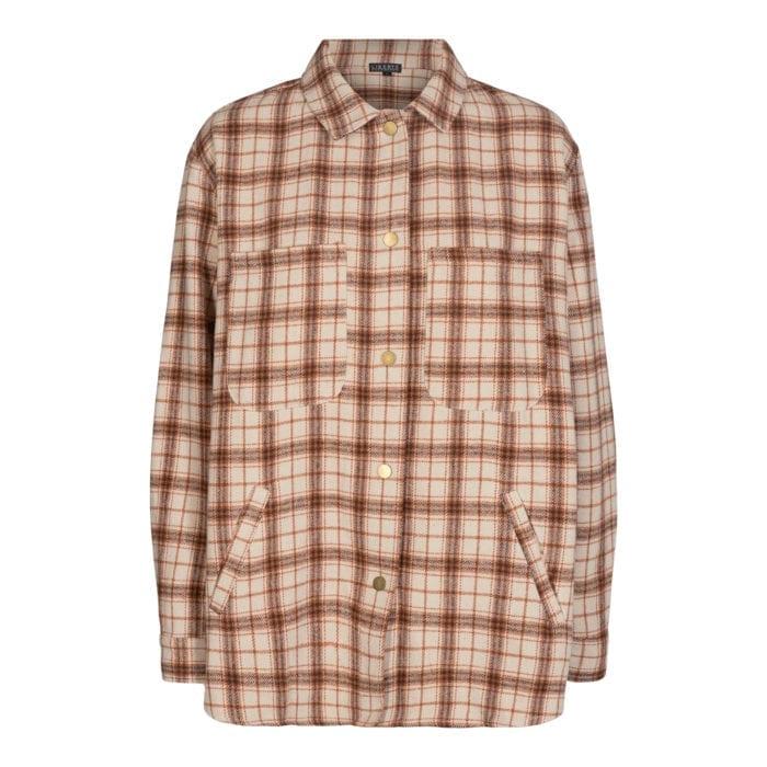 Liberte karen shirt browncheck